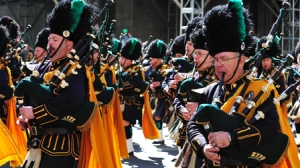 Irish bagpipers